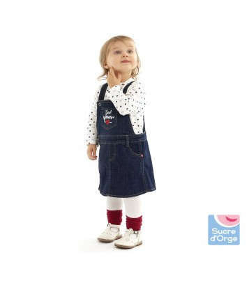 ROBE CHASUBLE JEAN + T-SHIRT Sucre Orge