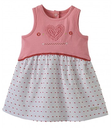 ROBE BEBE FILLE ROSE SANS MANCHES Sucre Orge