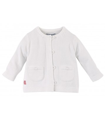 GILET TRICOT BEBE FILLE Sucre Orge