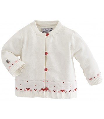 CARDIGAN TRICOT BEBE Sucre Orge