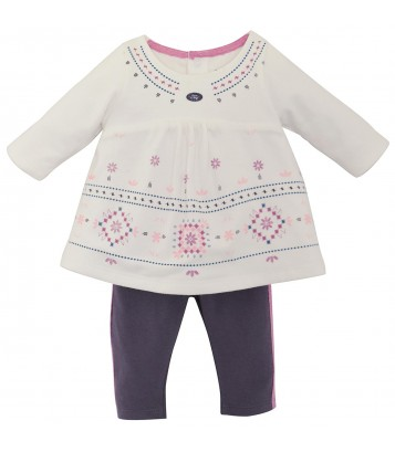 ENSEMBLE 3 PIECES LEGGING GRIS FOLKLORE BABY Sucre Orge