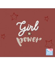 "SWEAT SHIRT FILLE ROUGE ""GIRL POWER"" Sucre Orge"