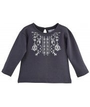 "SWEAT SHIRT FILLE ANTHRACITE ""BEST DAY"" Sucre Orge"