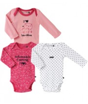 LOT DE 3 BODIES ALYA Sucre Orge
