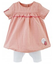ENSEMBLE ROBE ET LEGGING BEBE FILLE sucre d'orge