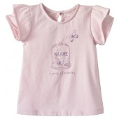 TEE SHIRT FILLE ROSE 2/8 ANS