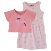 ENSEMBLE ROBE ROSE 2/8 ANS