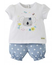 ENSEMBLE SHORT BEBE FILLE JEAN Sucre Orge