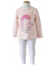 PYJAMA FILLE 2 PIECES ROSE 2/8 ANS Sucre Orge