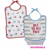 LOT DE 2 BAVOIRS REVERSIBLES