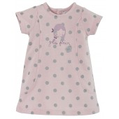 ROBE ROSE A POIS