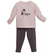 PYJAMA ROSE/ANTHRACITE 2-8 ANS