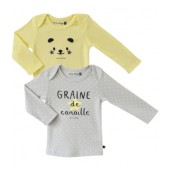 LOT DE 2 T SHIRT ALBIN 12/24 MOIS