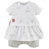 ENSEMBLE ROBE ET BLOOMER BEBE FILLE