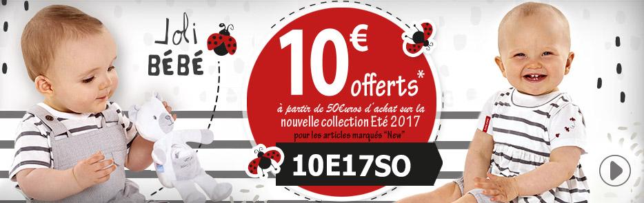 10€ offerts à partir de 50€uros d'achat sur la nouvelle collection Eté 2017 avec le code 10E17SO, j'en profite...