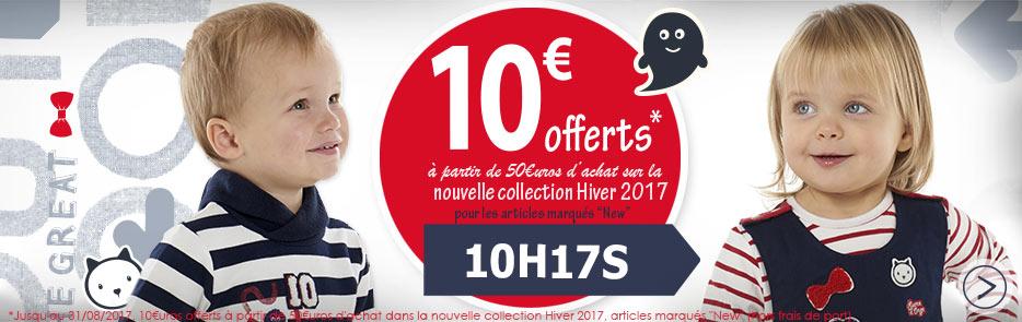 10€ offerts à partir de 50€uros d'achat sur la nouvelle collection Hiver 2017 avec le code 10H17S, j'en profite...