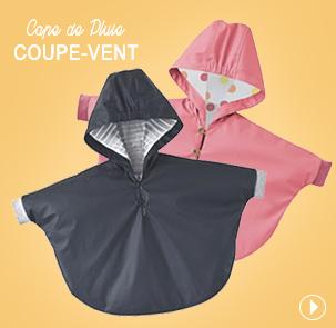 Nouveauté Cape de pluie bébé Sucre d'Orge