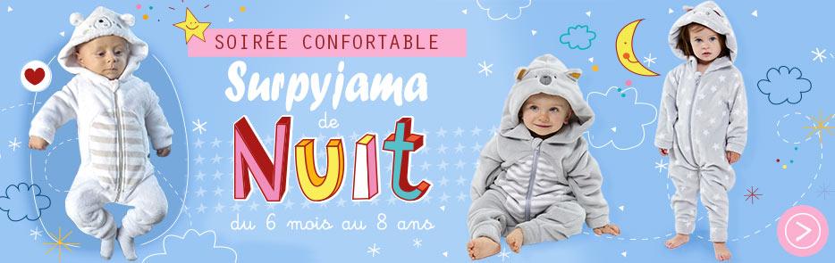 Surpyjama, pyjama bébé, pyjama enfant, robe de chambre