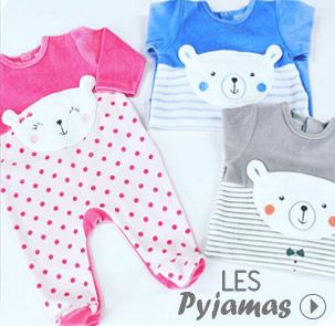 Pyjamas bébé, dors-bien, grenouilleres