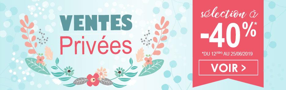 Ventes privées sélection d'articles à -40% du 12(10h) au 25/06/2019 Sucre d'Orge