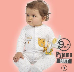 Pyjamas party Sucre d'Orge, pyjama à 9.99€