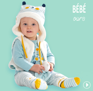 Collection vêtements bébé garçon les bleus Sucre d'Orge