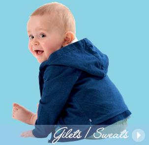 pull bébé ou un gilet bébé Sucre d'Orge