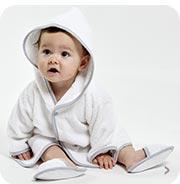 Peignoirs bébé, serviette bébé Sucre d'Orge