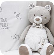 Grand doudou bébé, Grande peluche bébé et Range pyjama bébé Sucre d'Orge